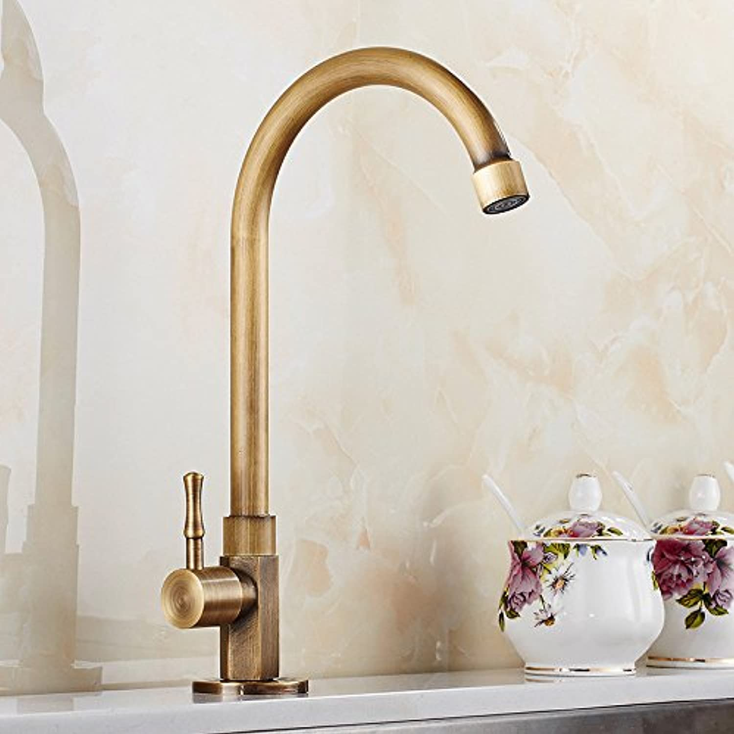 GFEI Antique greenical basin faucet copper redating European washbasin faucets