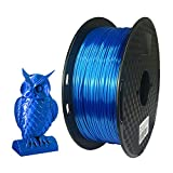 Shiny Silk blue PLA filament 1.75mm Net weight 1KG Good Performance: Tangle-Free,No Edge Warping, Reduce Jamming, No Bubbles,Strong Toughness,High Gloss,Print Smooth. A Unique Metallic Blue. Finished 3D Printed Items with Blue Metallic Shiny, Design ...