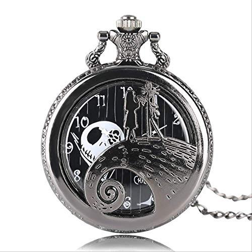 YYhkeby Bolsillo Watchfemale Pocket Watch The Nightmare Antes DE Jack Pendiente Wacky Collar Regalos Jack SKELLYTON KIAKAI (Color: 2) Jialele (Color : 1)