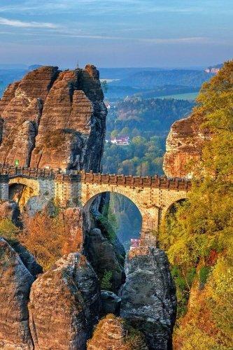 Bastei Bridge Saxon Switzerland Journal: 150 lined pages, softcover, 6