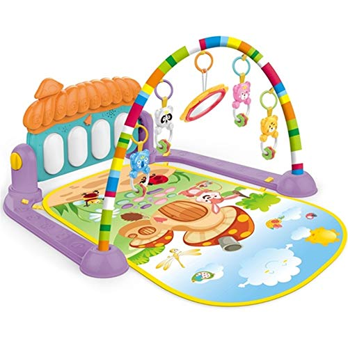 Find Discount XUROM Baby Play Mat Baby Fitness Music Game Pad, Suitable for Floor, Kick and Play Pia...