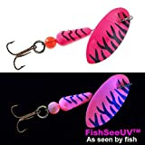 Panther Martin FishSeeUV Salmon & Steelhead Spinning Lure, 3/4 oz, Pink Tiger