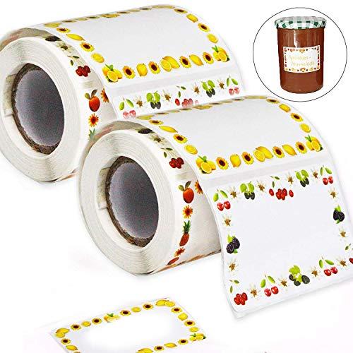 Etiketten Selbstklebend Marmelade Klebeetiketten 65x40 mm für Küche 400 Stück