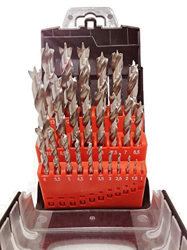 HSS-G 25-tlg. Präzisions - Holzbohrer Set - 1-13mm > 0,5mm steigend, jjw-germany, 4250980607300