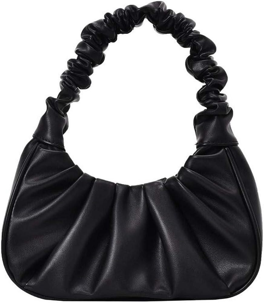 Y2K Purse Bags Chic Pouch Bag Vegan Leather Vintage Hobo Handbag Mini Shoulder Bag Underarm Bag Purse for Women