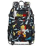 ZZGOO-LL Dragon Ball Super Son Goku/Vegeta IV/Torankusu Mochila con para Mujer, Mochila de Viaje Suave, Mochila para Escuela, Notebook, Mochilas para niñas con USB-F
