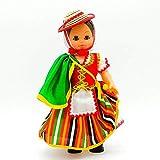 Folk Artesanía Muñeca Regional colección 35 cm Vestido típico Tinerfeña Tenerife Islas Canarias España, Nueva y Original.