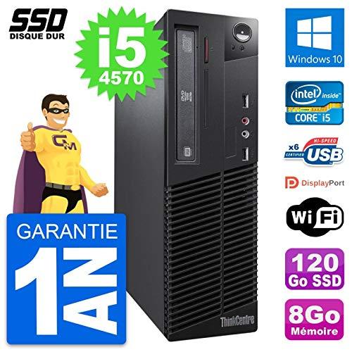 Lenovo PC Thinkcentre M73 SFF Intel i5-4570 RAM 8Go SSD 120Go Windows 10 Wifi (Generalüberholt)