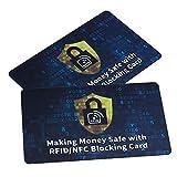 Tarjeta de Bloqueo RFID x 2 - Tarjetas Anti RFID Protección Tarjetas de Crédito Sin Contacto NFC, ZhaoCo Protector de Tarjeta para Cartera Billetera Pasaporte - Negro
