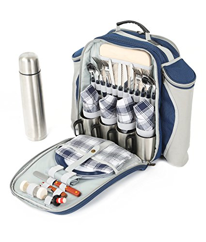 Greenfield Collection Super Deluxe Picnic Backpack Hamper...