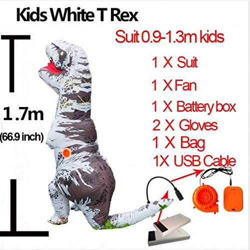 GBYAY Cosplay Fantasy Mascotte tCostume per Uomini Adulti Halloween Gonfiabile Raptor Dinosaur T Rex Costume per Bambini Donna