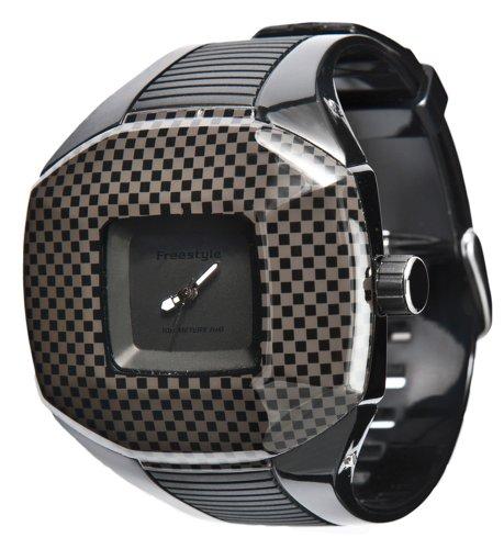 Freestyle Vader - Reloj analógico de mujer de cuarzo con correa de goma negra