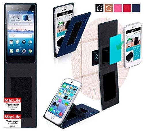 Hülle für Oppo Neo 5s Tasche Cover Hülle Bumper | Blau | Testsieger