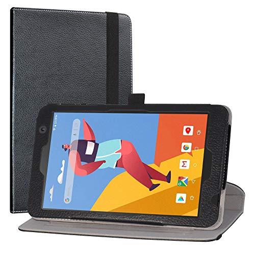 Labanema Funda para VANKYO MatrixPad S8, Rotación de 360 Grados Carcasa con Función de Stand Soporte Cover para 8' VANKYO MatrixPad S8 / Dragon Touch Notepad Y80 Tablet - Black