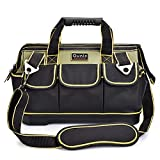 Tool Bag, Ounic 14-Inch Electrician Tool Bag for Man with Wide Mouth and Waterproof Molded Base,Tool Bag Organizer Specially Designed for Electricians.