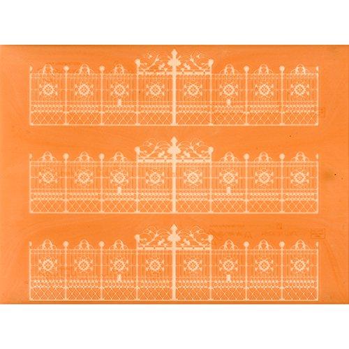 Martellato Spitze Effekt Design 7Dekoration Matte, Silikon, orange/weiß, 30 x 40 cm