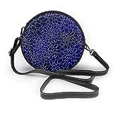 Bolso inclinado de las mujeres de los pétalos de la flor de Dahlia azul marino, bolso de hombro único personalizado, bolso de la fecha