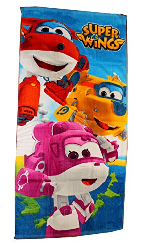 Super Wings Badetuch 70x140cm Strandtuch (Bunt 4355A)
