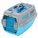 LXLA Transportin Caseta de plástico portátil para Mascotas con asa, Soporte de Viaje para Animales para Conejos de Gatos pequeños, Dos Puertas y Carga Superior