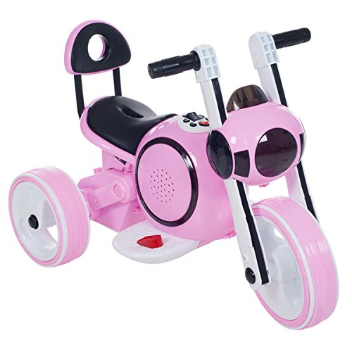 Review 3 Wheel LED Mini Motorcycle , Ride on Toy for Kids by Rockin' Rollers – Battery Powered T...