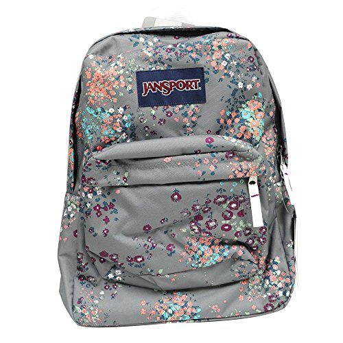 JanSport Classic Superbreak Backpack, Shady Grey, Sprinkled, Floral (T501ZK1), One Size