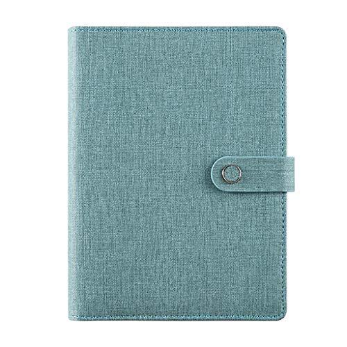 Diario de tapa dura A5 PU cuero duro portátil se escribe diario Asunto Gobernado paquete grueso clásico Hardcover escritura y revistas con bolsillo de papel de hojas sueltas Cuaderno de composición