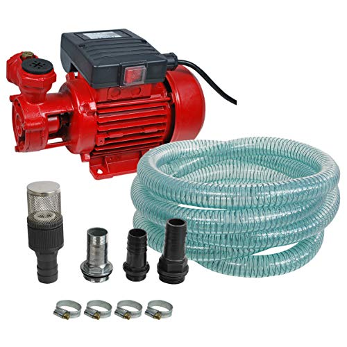 Helo \'DP40L\' Dieselpumpe Heizölpumpe 230V Tankstelle mit Automatik Zapfpistole, ca. 40l./min. Förderleistung, inkl. 4m Schlauch und Anschlussmaterial (Nicht selbstansaugend)