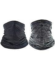 2 Piezas Multifuncional Máscara Bufanda Protección, Vegena Unisex Elastica Pañuelos Cabeza Multifunción Bufanda Bandana para Correr Aire Libre Pesca Hombre Mujer