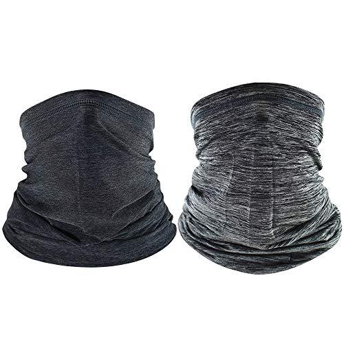 Vegena - 2 pañuelos multifunción, bandana, bufanda elástica, multifunción, máscara facial, gorro...