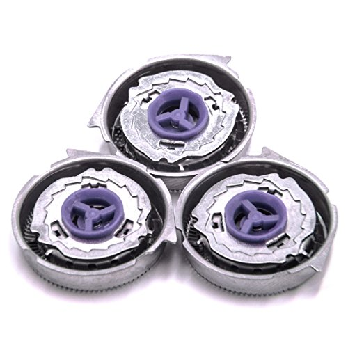 vhbw 3x cabezal de afeitar compatible con Philips HQ6445, HQ6605, HQ6613, HQ6616, HQ6640, HQ6645, HQ6675, HQ6695, HQ6831 afeitadoras