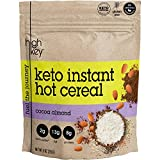 HighKey Snacks Keto Breakfast Food Hot Cereal - Low Carb Instant Oatmeal Substitute - Gluten & Grain Free, Low Sugar, Atkins Snack - Ketogenic Products - Paleo, High Protein Diet Foods - Cocoa Almond