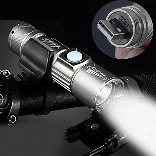 AmyGline einstellbare LED Zoom 3000LM MINI USB wiederaufladbare Taschenlampe tragbare