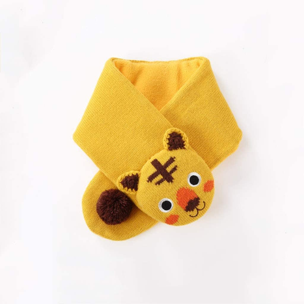 Scarf Kids Knitted Scarf Winter Toddler Warmer Scarf for Boy Girl Thick Warm Furry Suitable for Children's Comfortable Scarf (Color : Yellow)