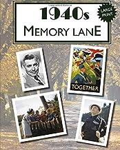 1940s Memory Lane: Large print book for dementia patients