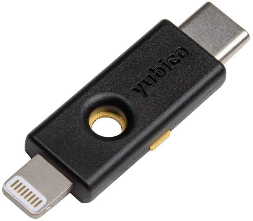 Yubico YubiKey 5Ci - Two Factor Authentication Android/PC/iPhone Security Key, Dual Connectors for Lighting/USB-C - FIDO Certified USB Password Key, Protect Online Accounts with More Than a Password