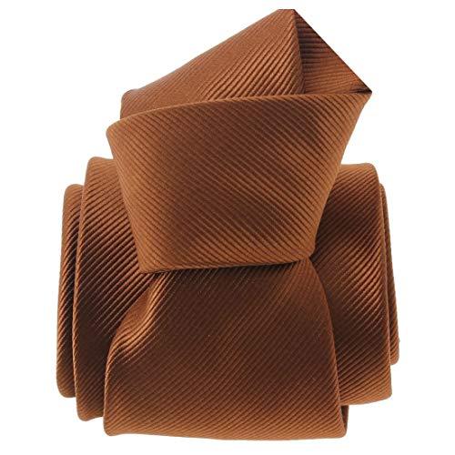 Clj Charles Le Jeune. Cravate. Monochrome, Microfibre. Brun, Uni.