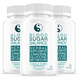 (3 Pack) Blood Sugar Balance Support Supplement, Blood Sugar Herbal Advanced Formula Pills Capsules - Supports Diabetic High Blood Pressure, Reduced Inflammation - Improved Blood & Immune Health