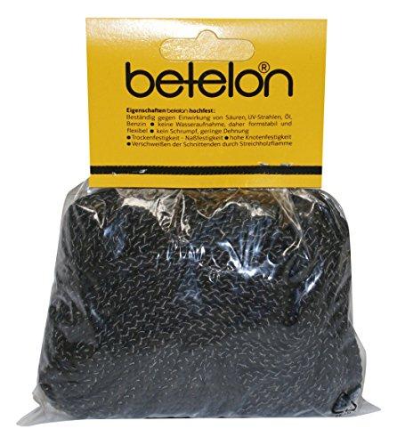 Usacord 110540300303 Betelon PPM Seil schwarz, 4 mm, 8er-Geflecht, 30 m