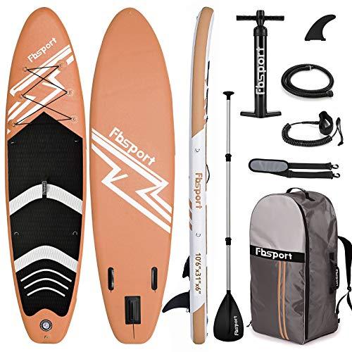 FBSPORT Sup Hinchable, 15cm de Espesor Tabla de Surf Sup Paddleboard, Tabla Inflable de Paddle Surf, Set de Sup con Tabla y Accesorios (New Green)