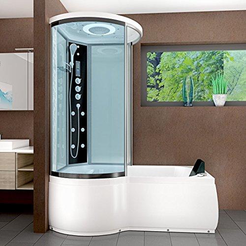 AcquaVapore DTP8055-A007R Whirlpool Wanne Duschtempel Dusche Duschkabine 98x170, EasyClean Versiegelung der Scheiben:2K Scheiben Versiegelung +79.-EUR