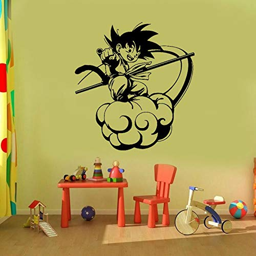 Muurtattoo Wandtattoo Anime zomerzuil wolk voor tienerkamer kinderkamer anime-fan decoratie vinyl