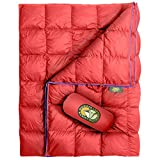 Hiker Hunger Outfitters | Extra Large Double Insulated Outdoor Camping Blanket | Easy to Pack, Waterproof, Durable, Lightweight & Warm | Best for Hiking, Backpacking, Stadium Events, Picnic Use RED
