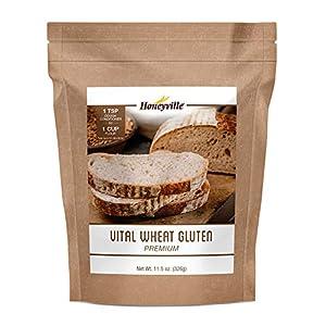 Honeyville Vital Wheat Gluten - High in Protein, Vegan, Non GMO, Keto Friendly, Low Carb (11.5 OZ)