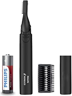 Philips Norelco Nose Hair Trimmer, Detail Trimmer for Nose, Ears and Eyebrows with Dual Sided Blade System for Precision