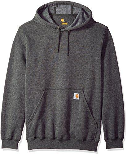 Carhartt Men's B&T Midweight Original Fit Hooded Pullover Sweatshirt K121, Carbon Heather, Large
