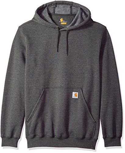Carhartt Men's Big B&T Midweight Original Fit Hooded Pullover Sweatshirt K121, Carbon Heather, 3X-Large/Tall