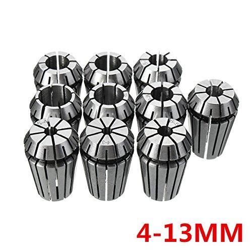ILS. - 10 stuks ER20 4-13mm Spring Collet Chuck Set voor CNC freesmachine graveren draaibank gereedschap