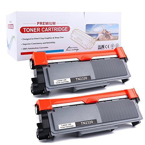 2er TN2320 TN-2320 TN2310 Toner Kompatibel for Brother HL-L2300D L2320D L2340DW L2360DW L2380DW, DCP-L2500D, L2520DW, L2540DN, L2560DW, MFC-L2700DW, L2720DW, L2740DW   2 * 2600 Seiten