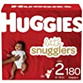 Baby Diapers Size 2, 180 Ct, Huggies Little Snugglers by Kimberly-Clark Corp.