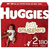 Baby Diapers Size 2, 180 Ct, Huggies Little Snugglers